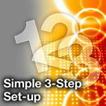 Simple 3-Step Set-up  Click here for more